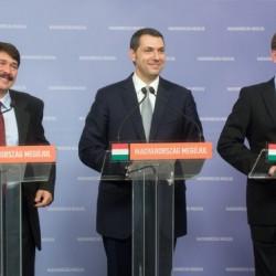 Áder János, Lázár János és Navracsics Tibor