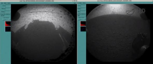 Curiosity által készített kép a Marsról