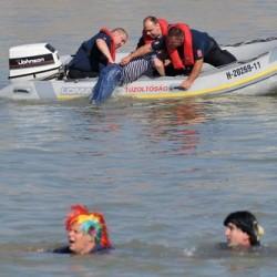 Katasztrófavédelmi gyakorlat a Hajógyári-szigetnél