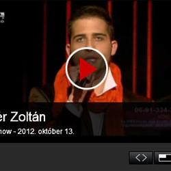 X-Faktor: Fehér Zoltán – első élő adás – videó