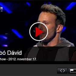 X-faktor: Szabó Dávid – 2012. november 17.