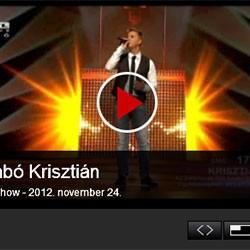 X-faktor: Zámbó Krisztián – 2012. november 24.