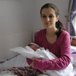 Budapesti az év első babája