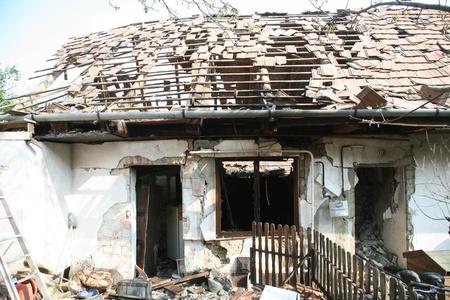 Gázrobbanás - Fotó Kis-Guczi Péter Országos Katasztrófavédelmi Főigazgatóság